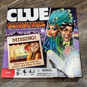Carnival 🎡 Clue board game